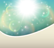 Sunny natural background Stock Photography
