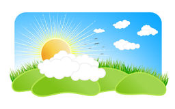 Sunny nature design element Stock Photo