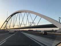 Sunny. New bridge in Amsterdam Netherlands royalty free stock images