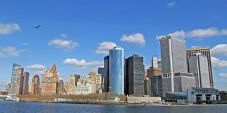 Sunny New York Cityscape From The Staten Island Ferry In 2007 Before The New World Trade Centre Was Builtbefore  Stock Images