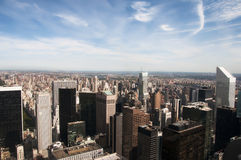 Sunny New York skyline Stock Photography
