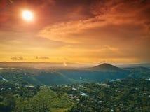 Sunny Nicaragua landskap royaltyfria foton