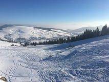 sunny śnieg Zdjęcia Stock