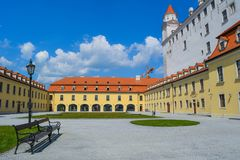 A sunny Noon In Slovakian Castle stock photo