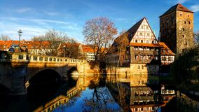 Sunny Nuremberg arkivfoton