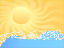 Sunny ocean Stock Images