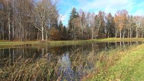 Sunny October-Tag in Trigorskoye Pushkin-Berge, Russland stock footage