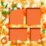 Sunny orange frame Stock Image
