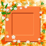 Sunny orange frame Stock Photos