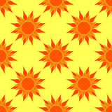 Sunny Orange Seamless Pattern Imagen de archivo libre de regalías