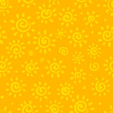 Sunny orange vector seamless pattern Stock Photography