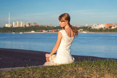 Sunny outdoors portrait of charming romantic girl Royalty Free Stock Images