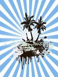 Sunny palm tree island Stock Image