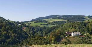 Sunny panoramic Black Forest scenery Stock Photos