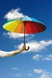 sunny parasolkę Obraz Royalty Free
