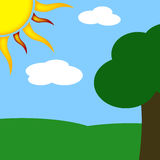 Sunny Park. Illustration of a sunny day in the park Stock Photos