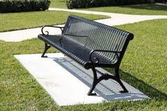 Sunny Park Bench Royalty Free Stock Photos