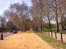 Sunny path. Sunny street in a london park near the buckingham palace Stock Images