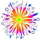 Sunny Peace Love Background, Easily Editable, Vect Royalty Free Stock Image