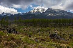Sunny peak. In the Slovak Tatras Stock Photography