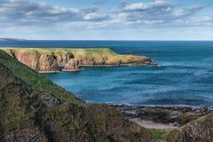 Sunny Peninsula Dunnotar Reino Unido Escocia Imagenes de archivo