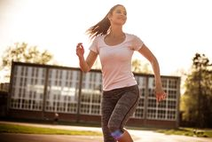 Sunny is a perfect for exercise. royalty free stock images