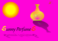 Sunny Perfume. New perfume presentation created in Coreldraw10 Stock Images