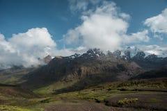 Sunny Peruvian Andes immagini stock