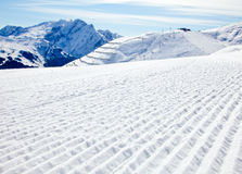 Sunny Piste Stock Images