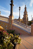 Sunny Plaza de Espana in Seville Royalty Free Stock Images