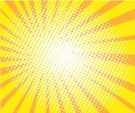 Sunny pop art retro comic halftone background vector stock illustration
