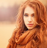 Sunny portrait of beautiful young woman Stock Images