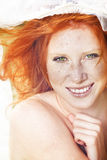 Sunny portrait if redhead Royalty Free Stock Photo