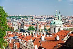 Sunny Prague Stock Photography