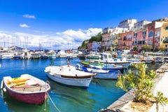 sunny Procida island, Italy royalty free stock images