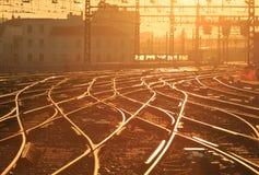 Sunny railway Royalty Free Stock Image