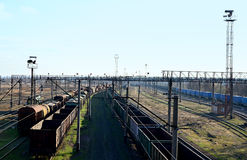 Sunny railway landscape Stock Images