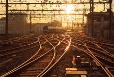Sunny railway Royalty Free Stock Photos