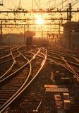 Sunny railway Stock Image