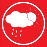 Sunny Rain Icon Photos libres de droits