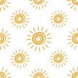 Sunny repeating texture in yellow colors. Royalty Free Stock Photos