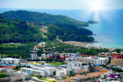 Sunny resort town by the sea Royalty Free Stock Photography