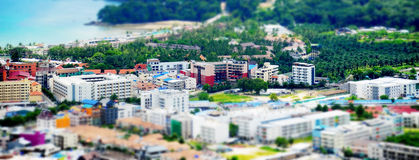 Sunny resort town by the sea Royalty Free Stock Photo