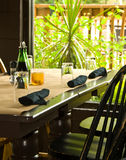 Sunny restaurnt table Stock Image