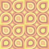 Sunny Retro Pattern (leaf) Stock Photos
