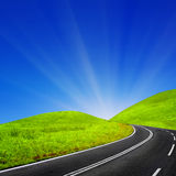Sunny road Stock Images