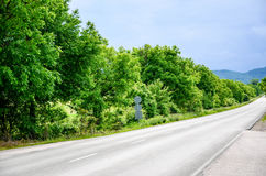 Sunny road. Empty  sunny road in the morning Royalty Free Stock Photos