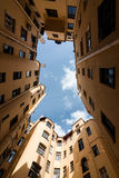 Sunny round yard-well in St. Petersburg Stock Image