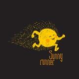 Sunny runner Stock Images