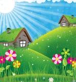 Sunny rural landscape Stock Image